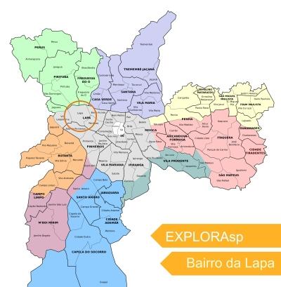 Localização bairro Lapa São Paulo