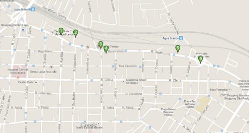 Mapa bairro Lapa São Paulo