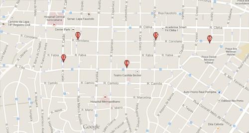Mapa bairro Lapa São Paulo onde comer e beber