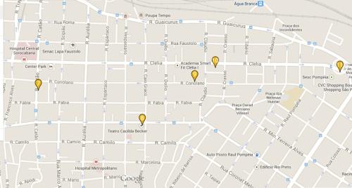 Mapa bairro Lapa São Paulo pontos turísticos