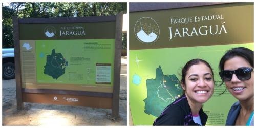 Placa entrada parque Pico Jaraguá